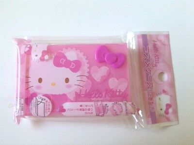 "New,Hello Kitty,Kawaii, ""Cosme Case"" Pink, 6.4 x 10.4 cm, Sanrio, Free Shipping"