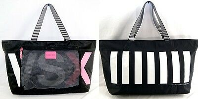 Victoria's secret VSX Tote Bag Sport Pink Black Gym Workout Travel Mesh Zip Top