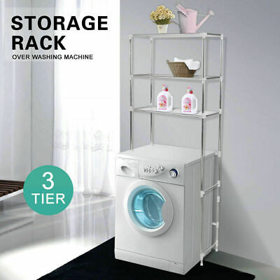 Over Laundry Washing Machine Storage Rack Shelf Unit Organizer 3 Tiers