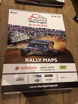 Rally Vodafone De Portugal May 2016- Calendar Style Rally Maps