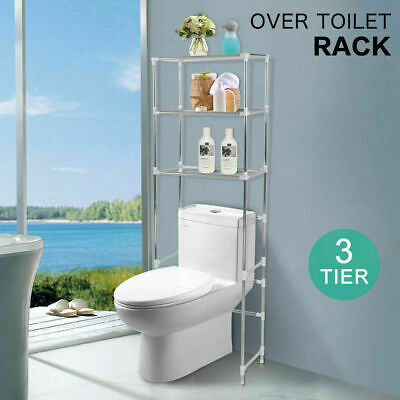 Over Toilet Bathroom Storage Rack Shelf Unit Organizer 3 Tiers