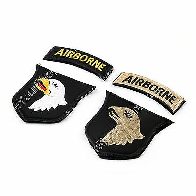 US Army 101St Airborne Division ACU Parche W. Tab Hook Authentic 2Nd Freesh BS6