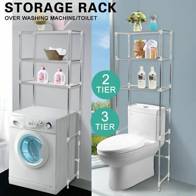 Over Toilet/Bathroom/Laundry/Washing Machine Storage Rack Shelf Unit Organizer