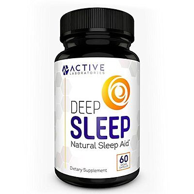 DEEP SLEEP All-Natural Sleep Aid - Melatonin & Valerian Root - Exp 03/2019