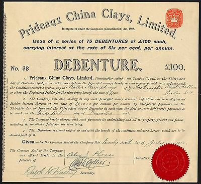 Prideaux China Clays Ltd., 1912