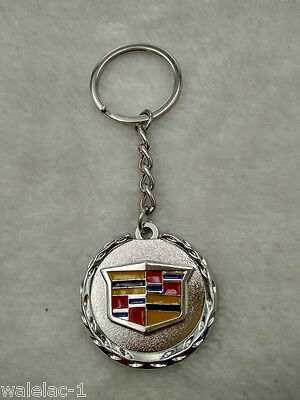 Metal Car Single side 3D Logo keyring key chain pendant Key Holder For Cadillac