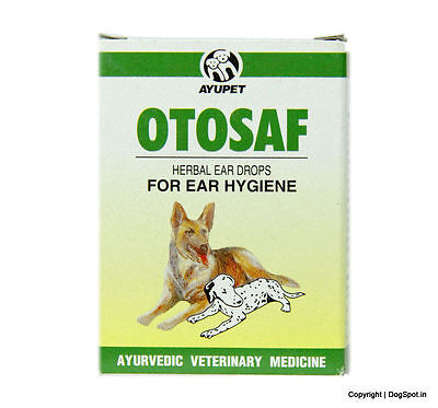 Ayurvedic Otosof Ear Drops Dog 10 ml ear infection herbal natural safe care