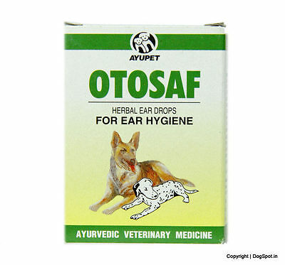 Pack of 2 Ayurvedic Otosof Ear Drops Dog 10ml ear infection herbal natural care