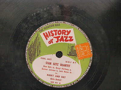 78 Giri History Of Jazz Stan Getz Quartet Night And Day Prelude To A Kiss