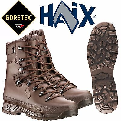 British Army Haix Brown Leather Boots Size 6 M New Goretex Boots Waterproof