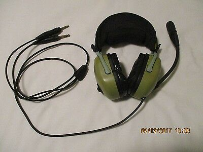 David Clark H20-10 Civil Aviation Headset, Dual Plug for Fixed Wing