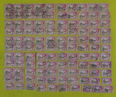 """LOT OF 110 PIECES GOLD COAST STAMPS 1952 QUEEN ELIZABETH II  2s  """"FREE SHIPPING"""""""