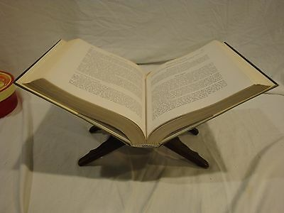Wooden Book Stand Handcarved Excellent Condition