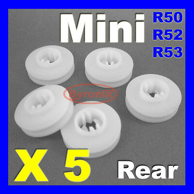 MINI REAR WHEEL ARCH TRIM CLIPS R50 R52 R53 Cooper S One Convertible ROUND