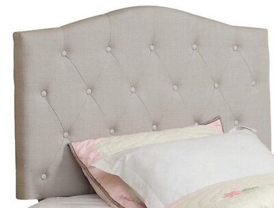 Queen/Double White or Grey linen button tufted convertible headboard