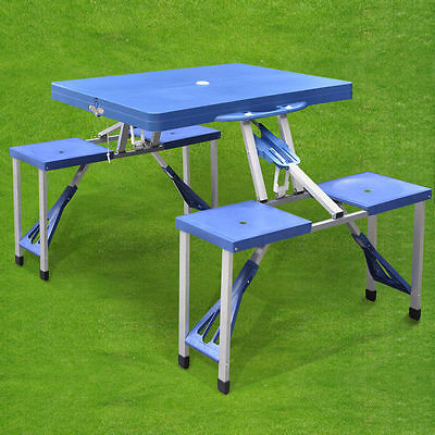 New Portable Folding Picnic Table With Chairs Bbq Camping Outdoor Garden Set