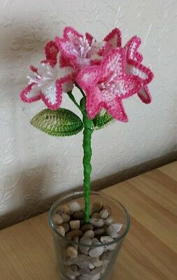 Handmade crochet  bell flowers decoration set