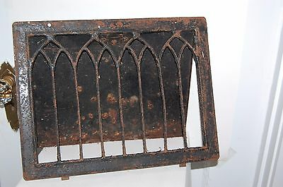 Vintage Antique Metal Wall Heat Grate Register Vent 10.25 x 13.5 Distressed Cond