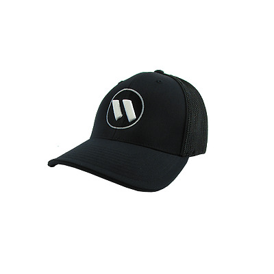Worth Hat by Pacific (404M) ALL BLACK/SILVER/WHITE SM/MD (6-7/8- 7 3/8), NEW