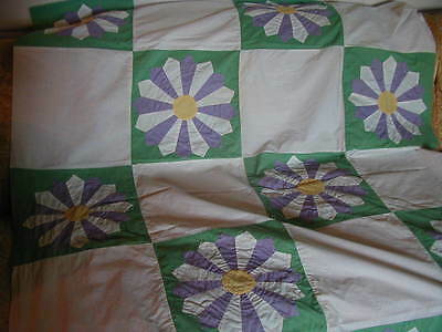 Antique Dresden Plate Type Unfinished Quilt Top