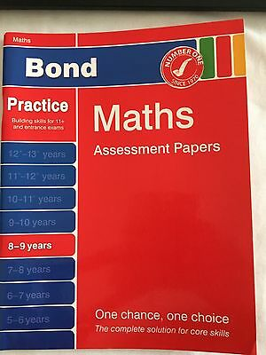 Bond - Maths Assessment Papers - Ages 8-9 Years -11+ Preparation
