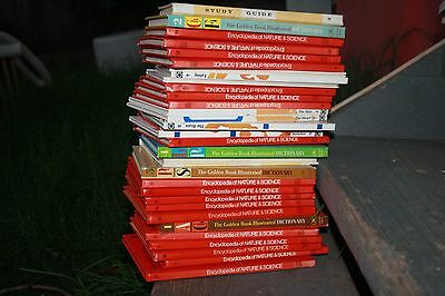 Set Of Encyclopedia of Nature and Science Books, Study Guide, The Golden Book