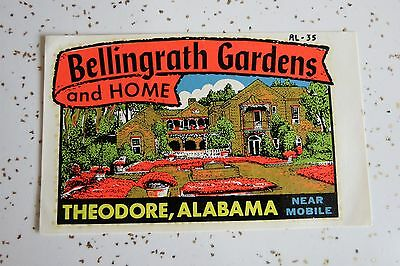 Bellingrath Gardens and Home Theodore, Alabama Vintage Decal