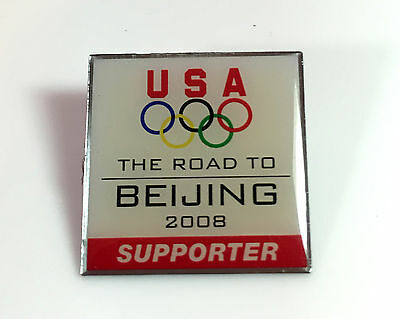 USA The Road To Beijing 2008 Olympics Supporter Enamel Metal Pin