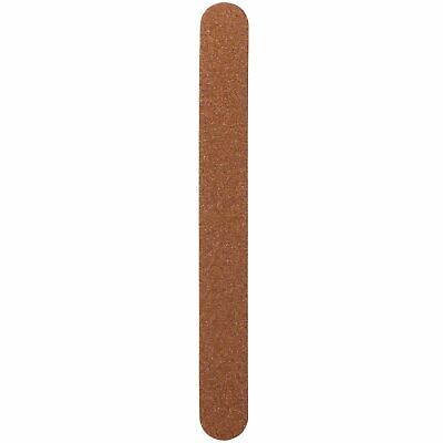 Salon System Profile Nail File Wooden Natural Emery Board 2-Sided Grit - 10 Pack