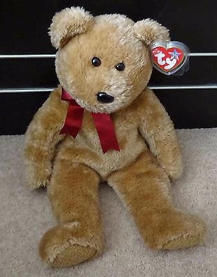 TY Beanie Buddy - Curly - Bear - Retired - Good Condition