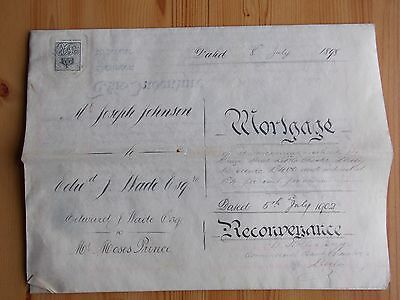 Indenture - DERBY property -Johnson and Wade + Wade and Prince - 1898/1902