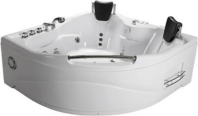 2 Person Indoor Hot Tub Jetted Bathtub Sauna Hydrotherapy Massage SPA + Shower