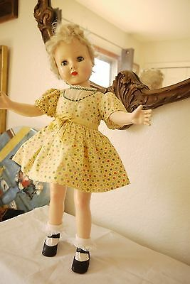 "Vintaqe Hard Plastic Effanbee 18"" tall Doll Unique ""Honey"""