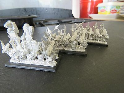 Games Workshop Warmaster Lizardmen Temple Guard 30 figures incl. command A