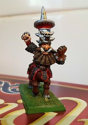 BloodBowl Chaos Dwarf Bull Centaur Hthark The Unstoppable metal oop well painted