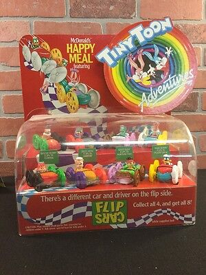McDonald's Tiny Tunes Display For Happy Meal Flip Cars Vintage One Display