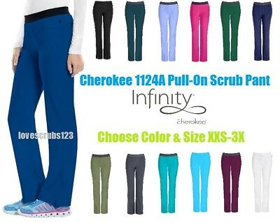 Cherokee Infinity Low Rise Slim Pull On Scrub Pant 1124A Choose Size & Color!