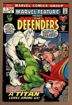 Marvel Feature #3 FN+ 6.0 3rd Appearance Of The Defenders Marvel Comics 1972