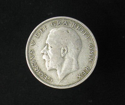 1929 Great Britain Half 1/2 Crown silver coin