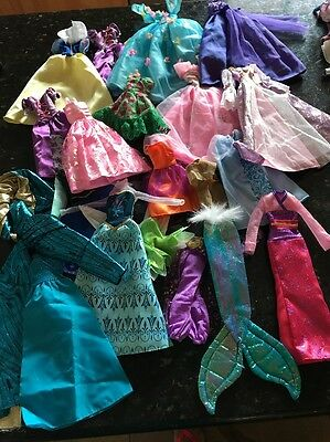 Big Lot Barbie Clothes B Party Dress Princess Ball Gown Skirts Disney Holiday
