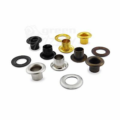 3 mm steel eyelets grommet with washers in nickel oxide gold antique brass, A4E