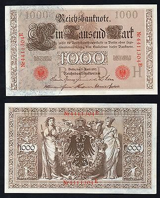 1000 mark Reichsbanknote Germany 1910  qFDS(UNC-  //