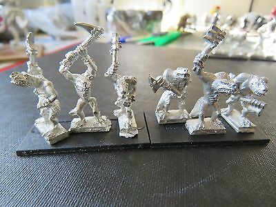 Games Workshop Warmaster Lizardmen Kroxigors 9 figures/3 bases C