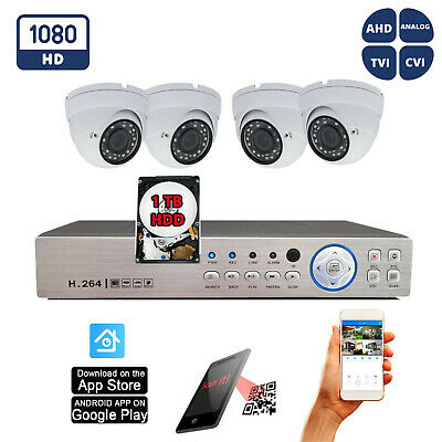 8 Channel HD HDMI DVR 8x HD 4in1 1080P Home CCTV Security Camera System Set 1TB