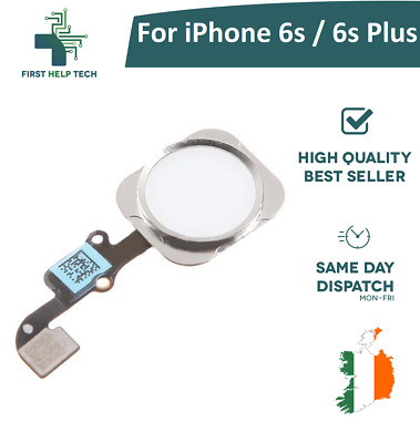 New Home Button Flex Cable Fingerprint Touch ID  For iPhone 6s White