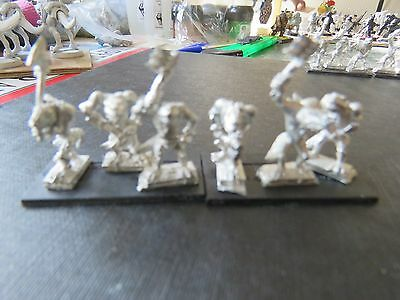 Games Workshop Warmaster Lizardmen Kroxigors 9 figures/3 bases D