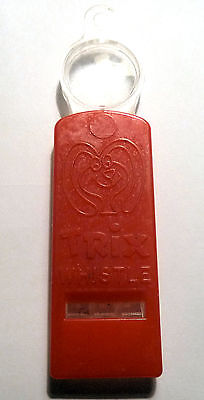 Vintage Toy Whistle AD TRIX CEREAL RABBIT Picture w. Magnifier 1960s