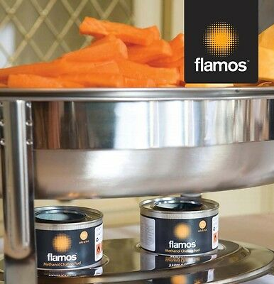 10 x Flamos Ethanol Gel Chafing Dish Fuel 3 Hour Can Catering BBQ Buffet Camping