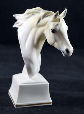 """Hand Painted ROYAL WORCESTER Pottery 'PHAETHON' Horse Head Figure 5"""" High"""