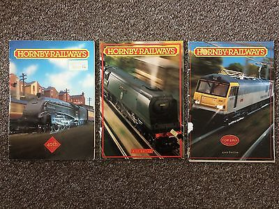 Hornby Railways Catalogues 40, 41 & 42 Editions 1994, 95, 96